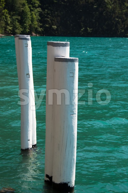 Old Bollards Stock Photo
