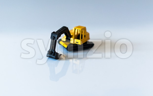 Toy Excavator Stock Photo