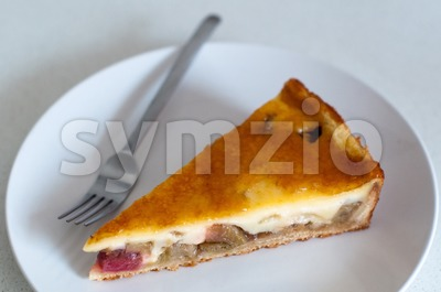 rhubarb cake Stock Photo