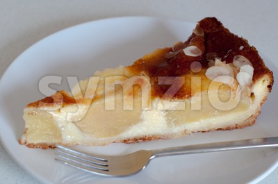 Apple Pie And Fork Stock Photo