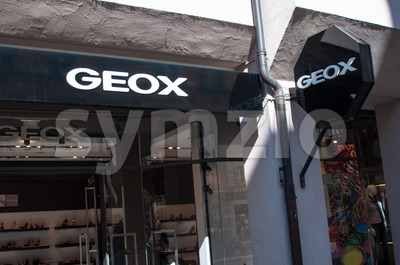 Geox shoes store Munich Stock Photo