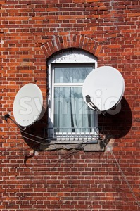 Tv - Window On The World Stock Photo