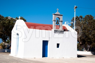 Greek Chapel Stock Photo