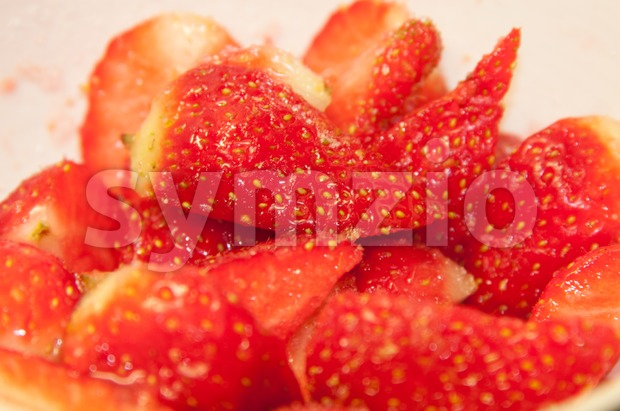 Strawberries Dessert Stock Photo