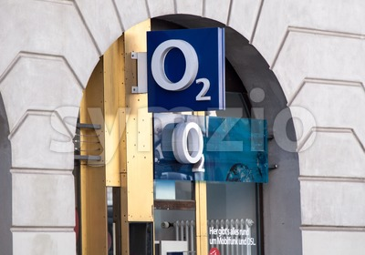 o2 Store Munich Stock Photo