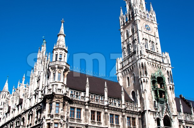 Munich Town Hall Stock Photo