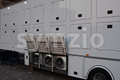 Broadcast Truck Stock Photo
