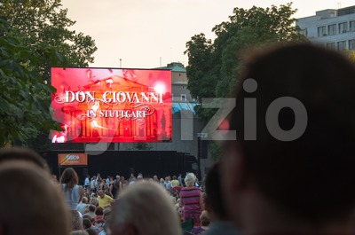 Don Giovanni Public Viewing Stock Photo
