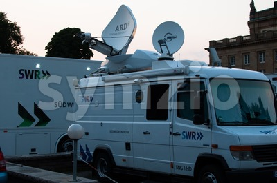 Broadcast Truck of SWR in Stuttgart, Germany Stock Photo