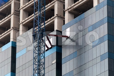 High rise construction site Stock Photo