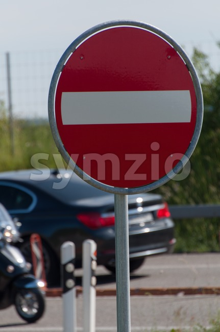 Sign. No Entry Stock Photo