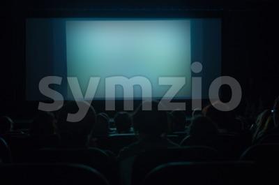Cinema Screen Stock Photo