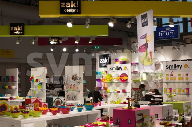 FRANKFURT, GERMANY – FEBRUARY 16, 2013: Booth of German company ZAK! Designs on the Ambiente trade fair on February 16, ...