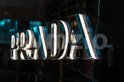 Prada Logo Stock Photo