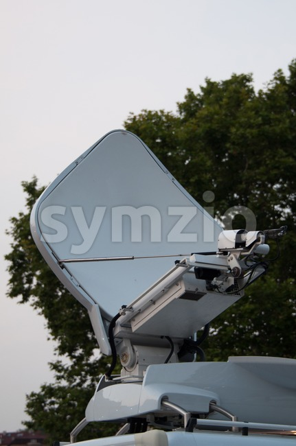Broadcast Truck Stock Photo
