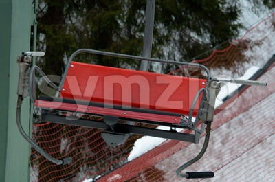 Old chairlift Stock Photo