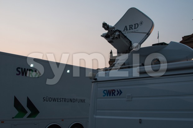 STUTTGART, GERMANY - JULY 25: SWR, the Southwest German Radio&TV Corporation is recording and broadcasting the premiere of Mozart´s opera ...