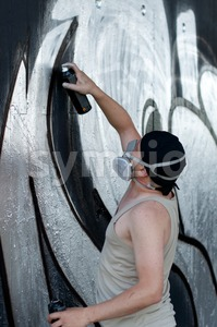 Graffiti Artist Stock Photo