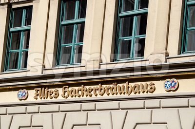 Altes Hackerbräuhaus in Munich, Germany Stock Photo