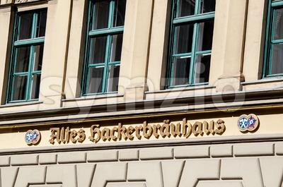 Altes Hackerbräuhaus in Munich, Germany Stock Photo