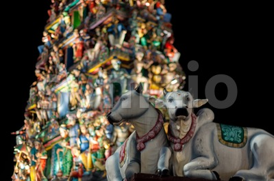Sri Mariamman Temple Singapore Stock Photo