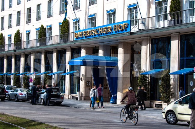 Hotel Bayerischer Hof, Munich Stock Photo