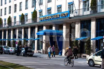 Hotel Bayerischer Hof, Munich Stock Photo