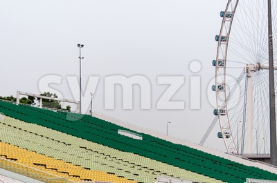 Singapore Flyer and tribunes Stock Photo