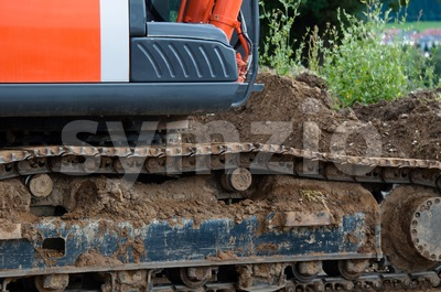 Excavator detail Stock Photo