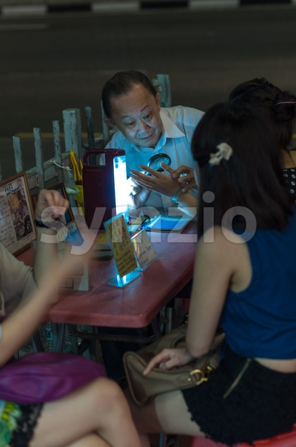 Palmistry in Singapore Stock Photo