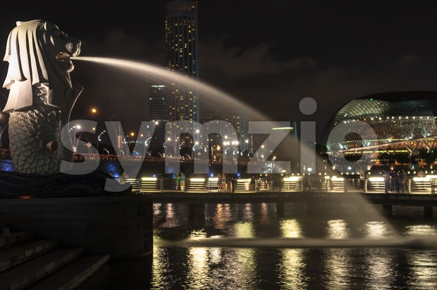 merlion in singapore Stock Photo