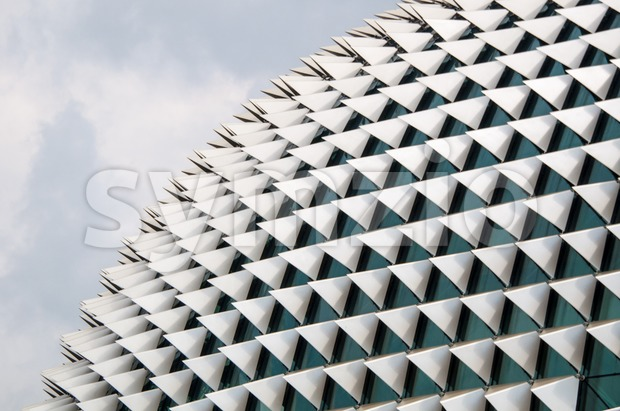 Esplanade opera building in Singapore is known as the big durian to locals for its unique roofing style