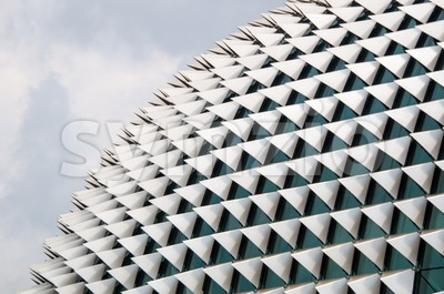 Esplanade Opera Building In Singapore Stock Photo
