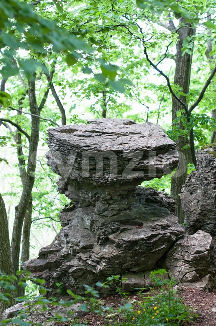 Table shaped rock Stock Photo