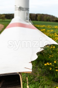 Broken Wind Turbine Stock Photo