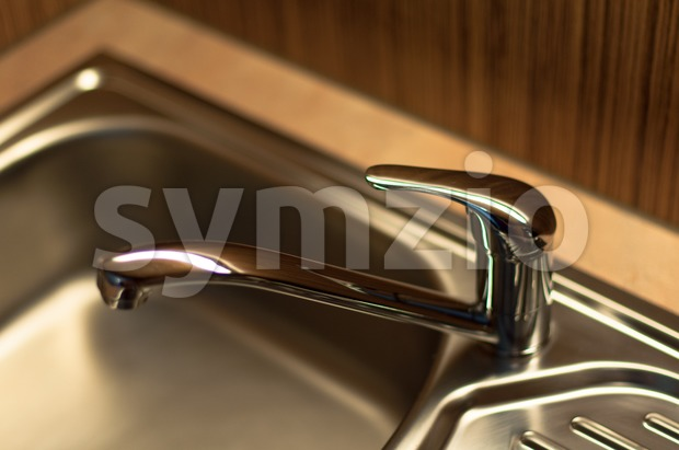 Kitchen Faucet Stock Photo