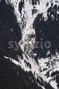 Landslide and avalanches Stock Photo