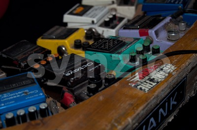 guitar multi-effects device Stock Photo