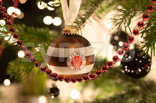 FC St. Pauli Christmas ball Stock Photo
