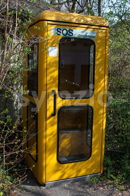 Old fashioned German Phone Booth Stock Photo