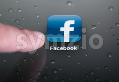 Facebook on the iPad Stock Photo