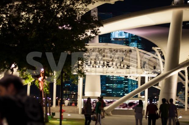 Singapore night scene Stock Photo