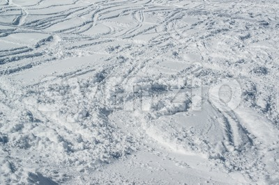 Ski tracks Stock Photo
