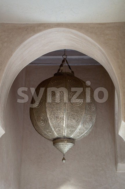 Old Arabic Traditional  Metallic Lamp Stock Photo