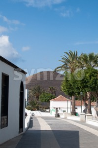 Lanzarote Buildings Stock Photo