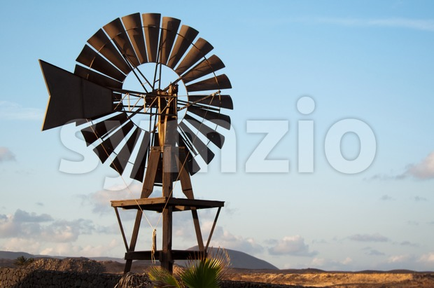 Old Windmill on Lanzarote Stock Photo
