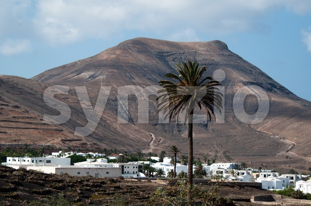 Yaiza on Lanzarote, Canary Islands, Spain. Stock Photo