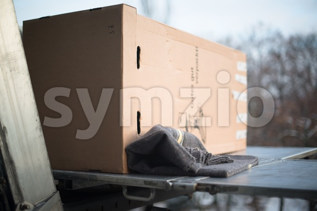 Flat moving Stock Photo