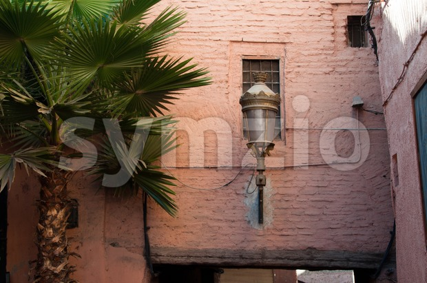Marrakech street lamp Stock Photo
