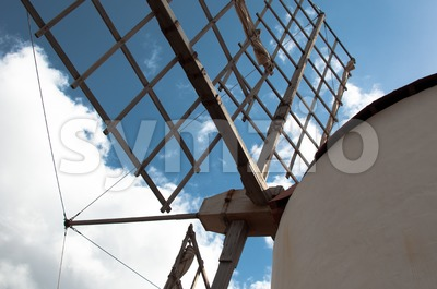 Old Windmill Detail Stock Photo